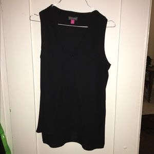 Vince Camuto black sleeveless v neck blouse top